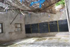 Actuel toit de la classe de maternelle