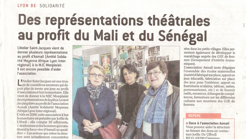 Des représentations théâtrales au profit du Mali et du Sénégal